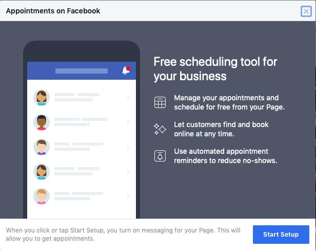 Facebook & Instagram book an appointment button!