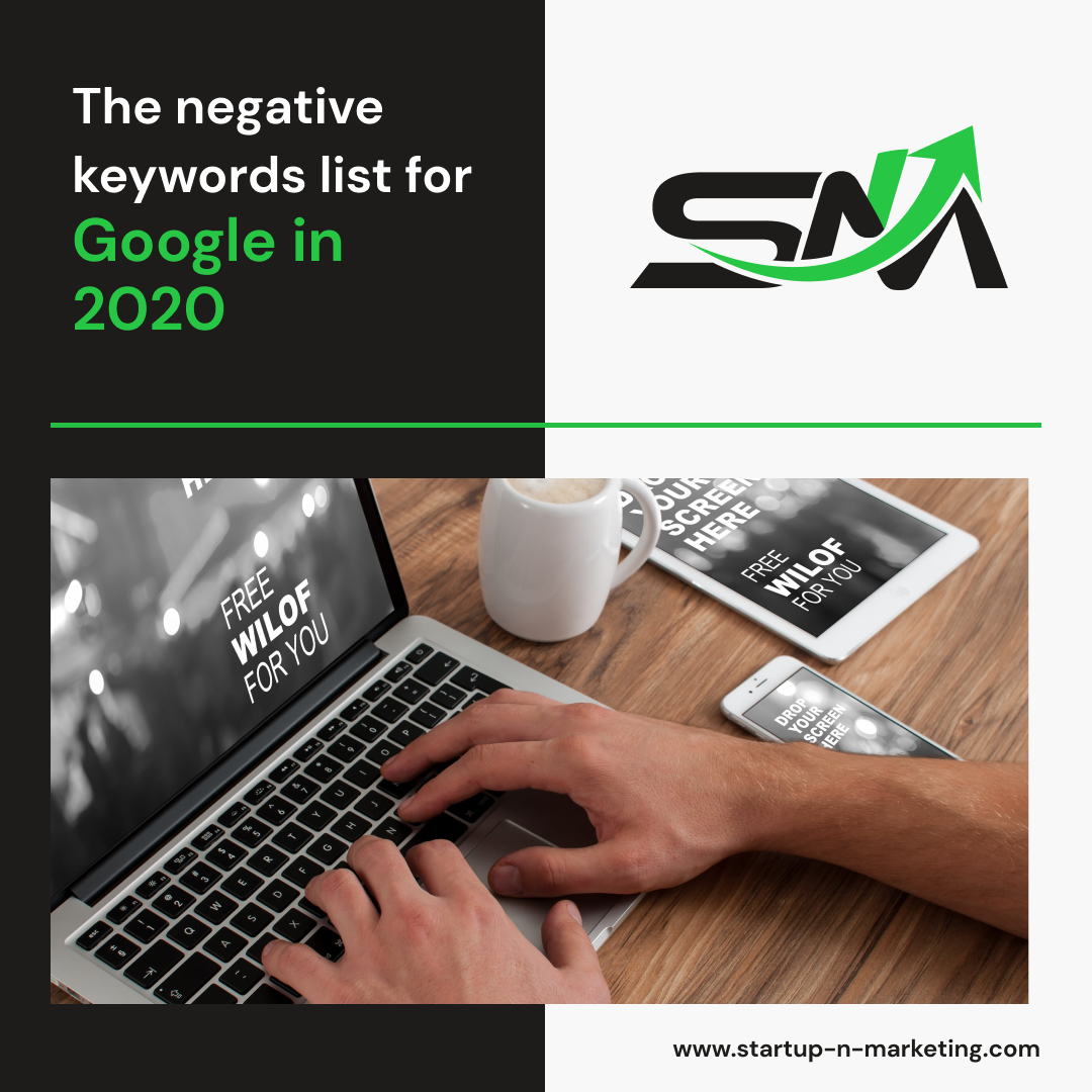 The negative keywords list for google in 2020