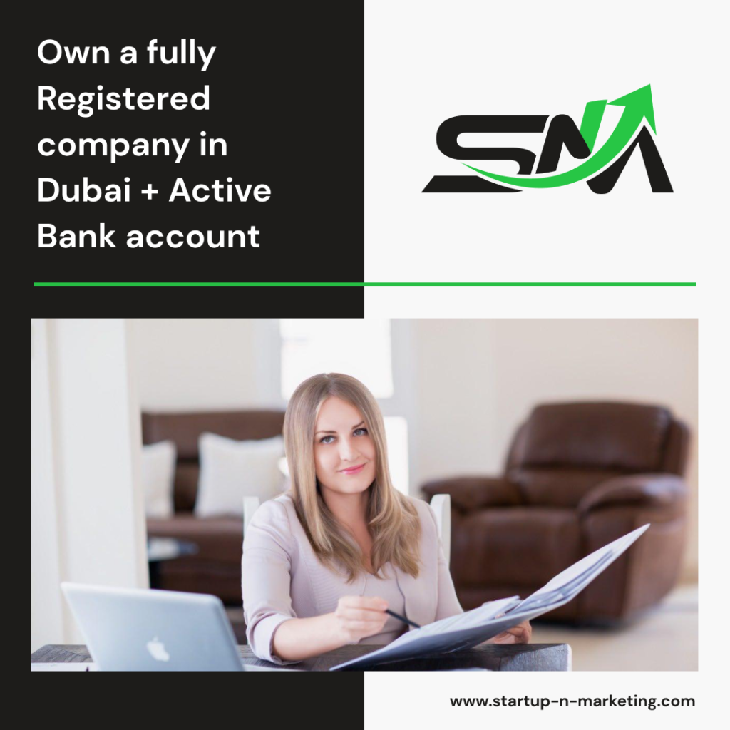 Own a fully registered company with business activity + an active bank account in DUBAI. Remotely!