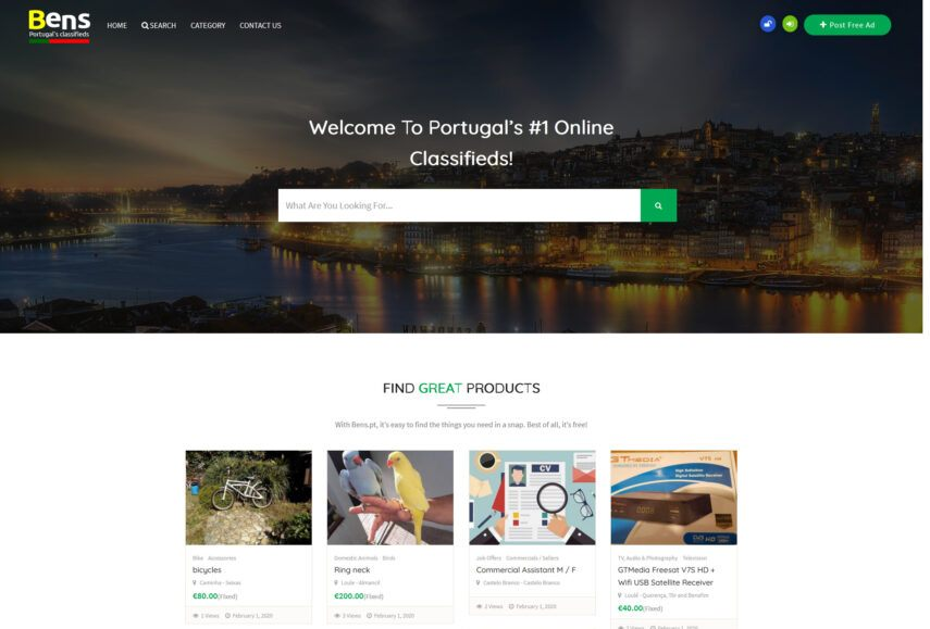 Portugals no 1 Online Classifieds Website Post Your Business Listing Free Ads scaled