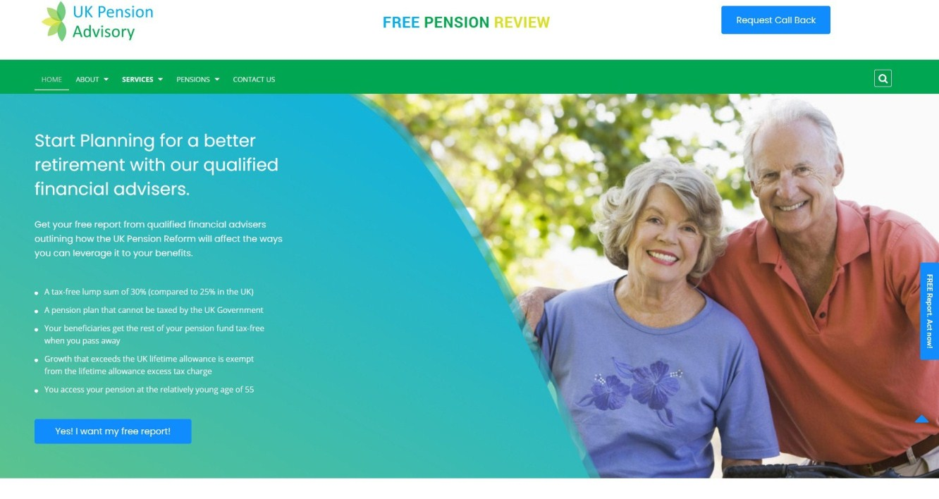 UK Pension Advisory, SEO, PPC & Development Portfolio - Startup N Marketing